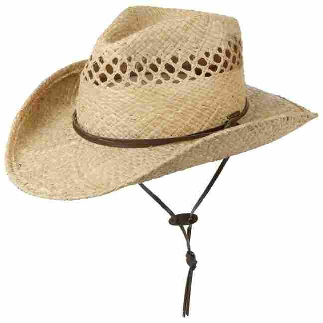Larimore Raffia Cowboy Hat. by Stetson 51d0e6f1fb3