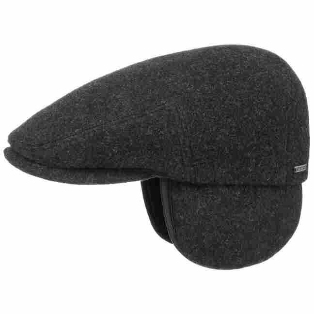 d4116d6153646 Kent Wool Earflaps Flat Cap by Stetson