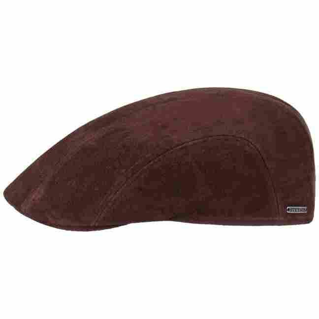 fd280e90d120d Nubuck Leather Pigskin Flat Cap. by Stetson