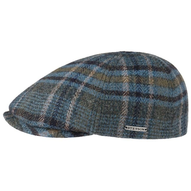 787caf3d238c6 Woolrich Check Flat Cap by Stetson