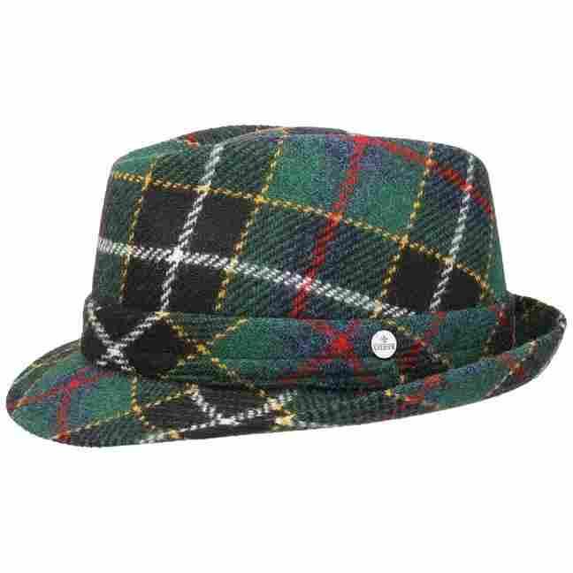 2f325c2fb Green Harris Tweed Trilby Hat by Lierys