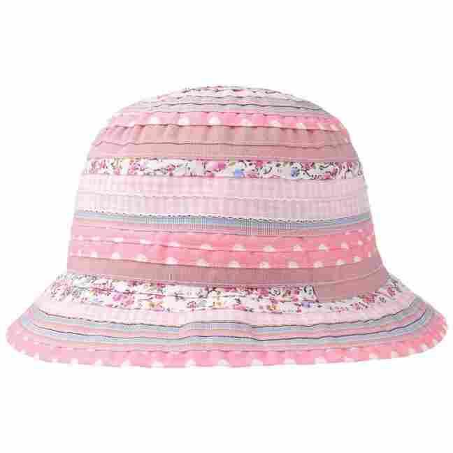 Girly Flower Stripes Floppy Hat by Lipodo 5d07ab551fd
