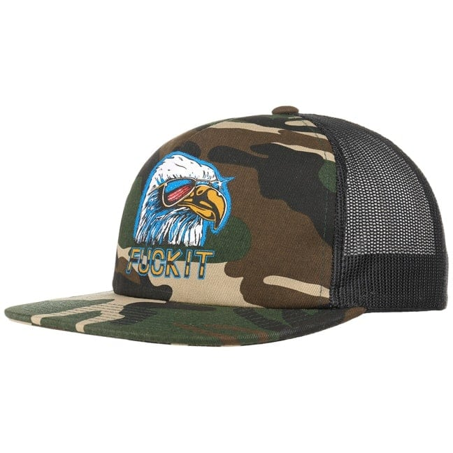 5db49319f8d Fuck It Camo Eagle Trucker Cap by HUF