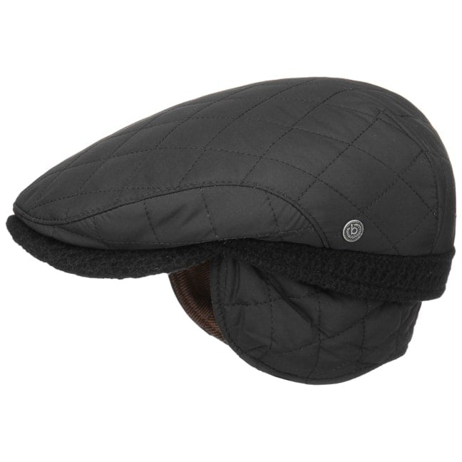 Quilted Flat Cap with Ear Flaps by bugatti 247d4a2dba7
