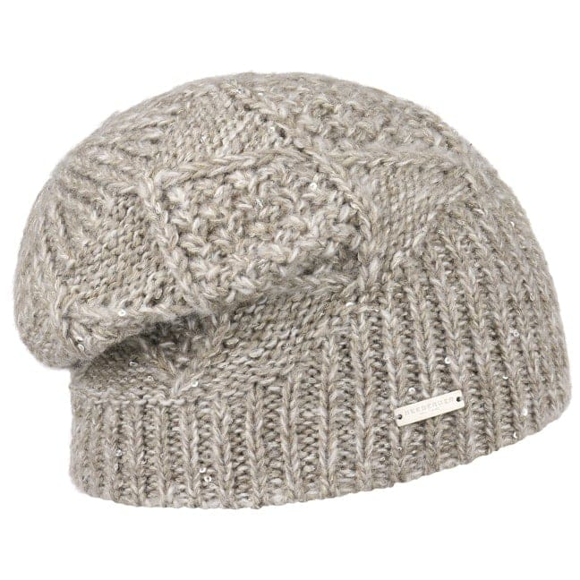 ee734bc179b Cable Knit Pattern Beanie Hat. by Seeberger
