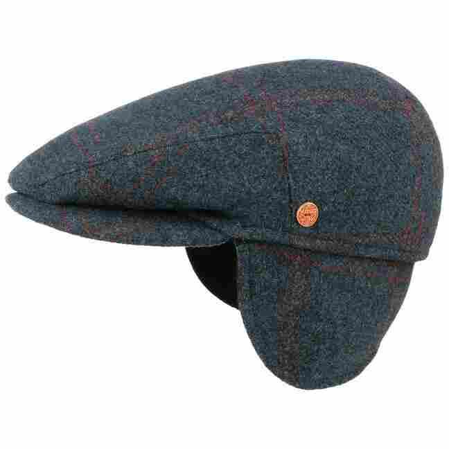 Merlino Wool Flat Cap with Ear Flaps by Mayser bba6bd962f6