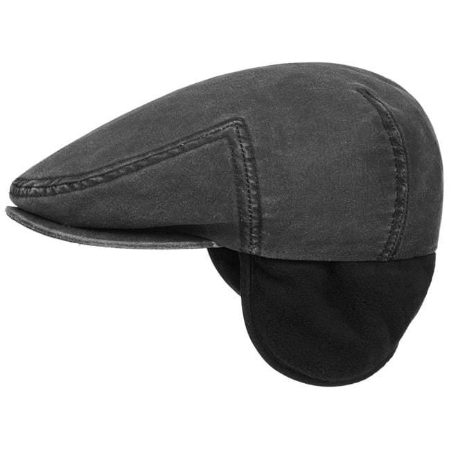 6c9251aaf4fcad Kent Flat Cap with Ear Flaps by Stetson - 69,00 £