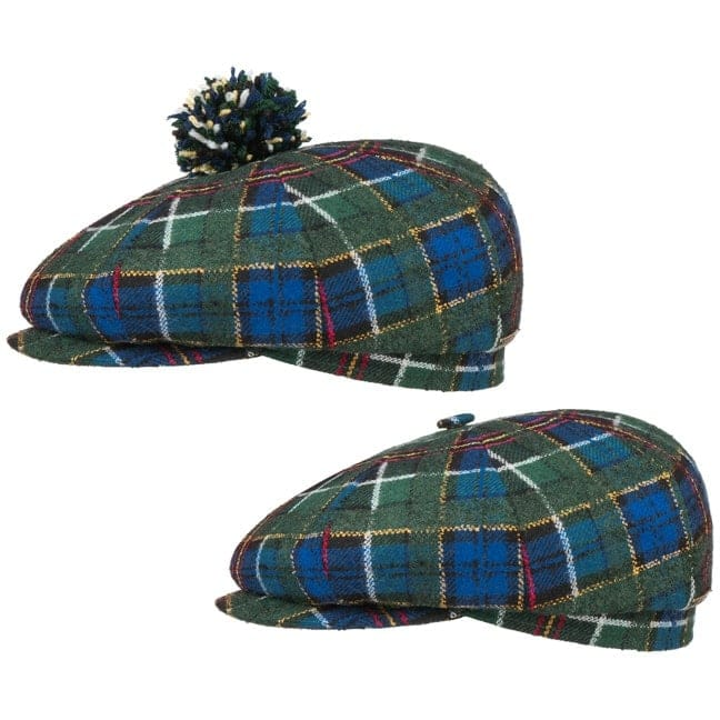 f925215e9e4 ... best price 8 panel wool check pompom flat cap by stetson gbp 7900 hats  caps beanies